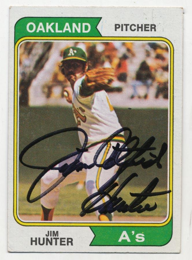 Lot #63 1974 Topps # 7 Jim Hunter Cond: 9.5