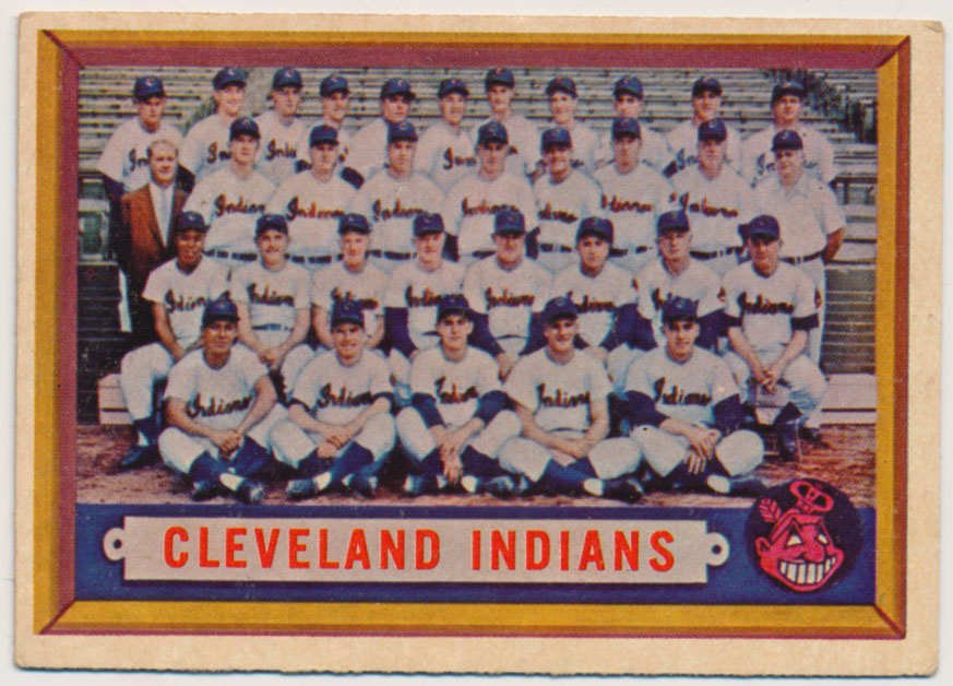 Lot #882 1957 Topps # 275 Indians TC Cond: VG-Ex/Ex