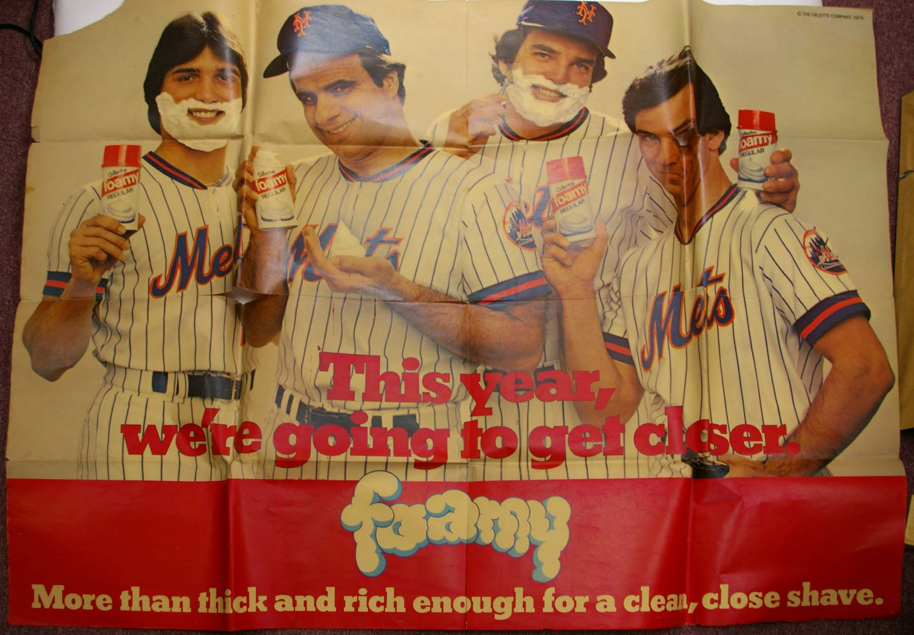 Lot #1516 1979   Ed Kranepool Mets Large Format Subway Poster Cond: Good