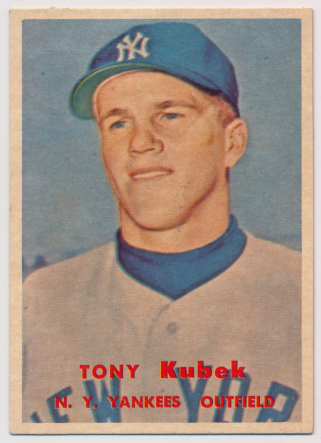 Lot #884 1957 Topps # 312 Kubek RC Cond: Ex-Mt+ mk