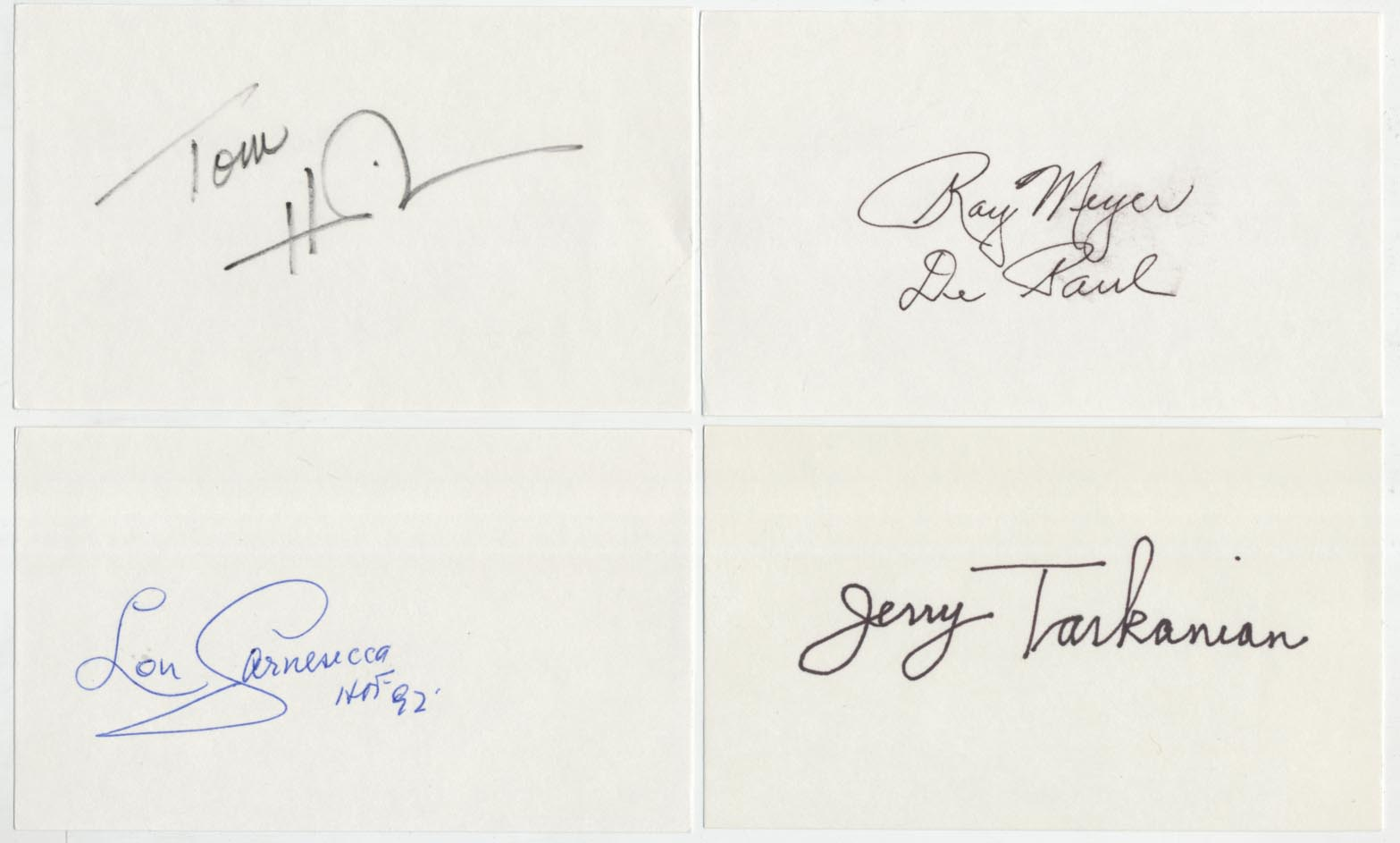 Lot #923  3 x 5  Collection of 25 autographs w/stars & coaches Cond: 9