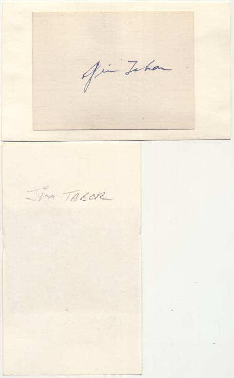 Lot #42  3 x 5  Tabor, Jim (lot of 2) Cond: 9