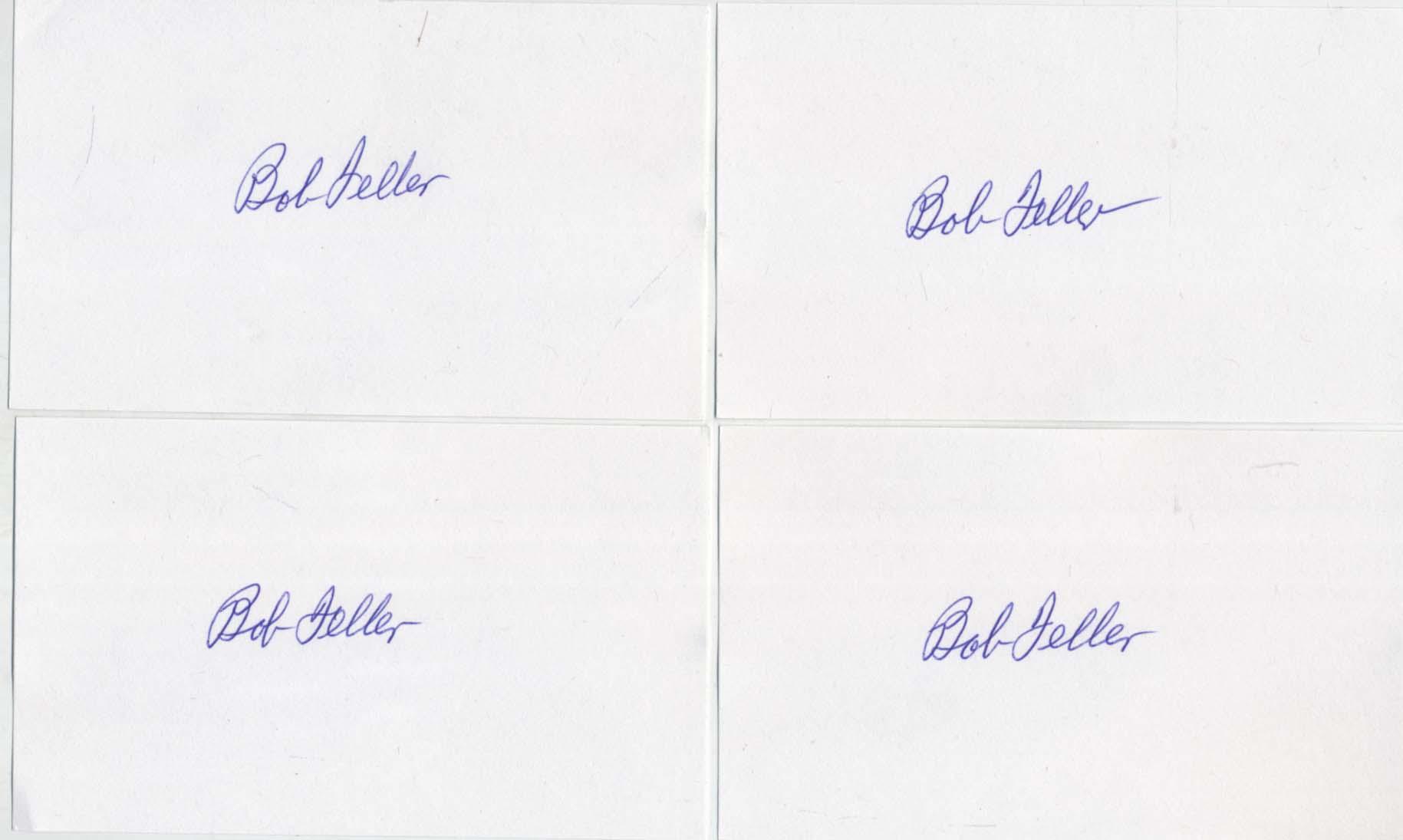 Lot #15  3 x 5  Feller, Bob (lot of 100) Cond: 9.5