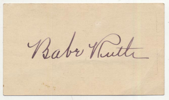 Lot #45  Cut  Ruth, Babe (superb quality) Cond: 9.5
