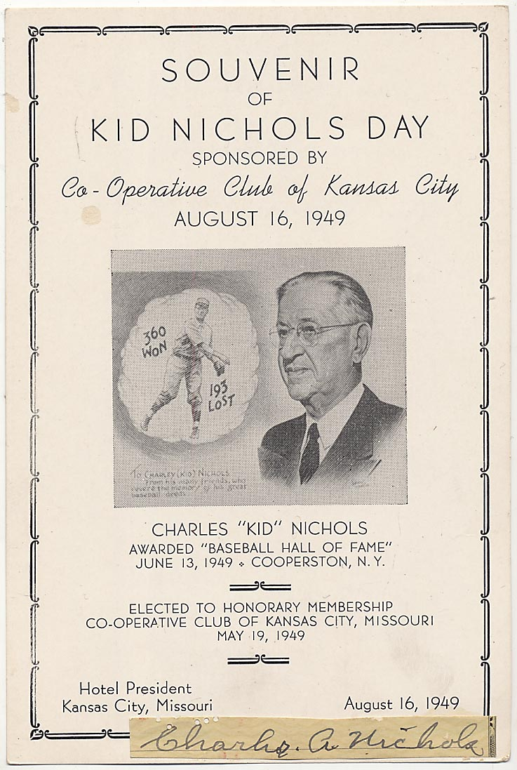 Lot #43  Cut  Nichols, Kid (check cut) Cond: 9