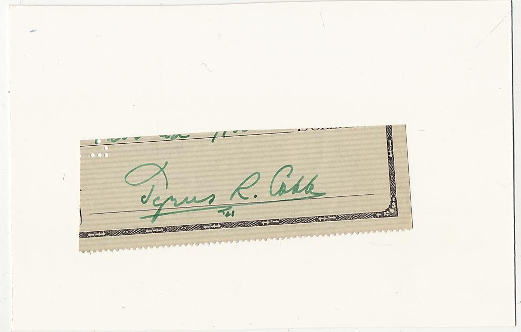 Lot #37  Cut  Cobb, Ty Cond: 9.5