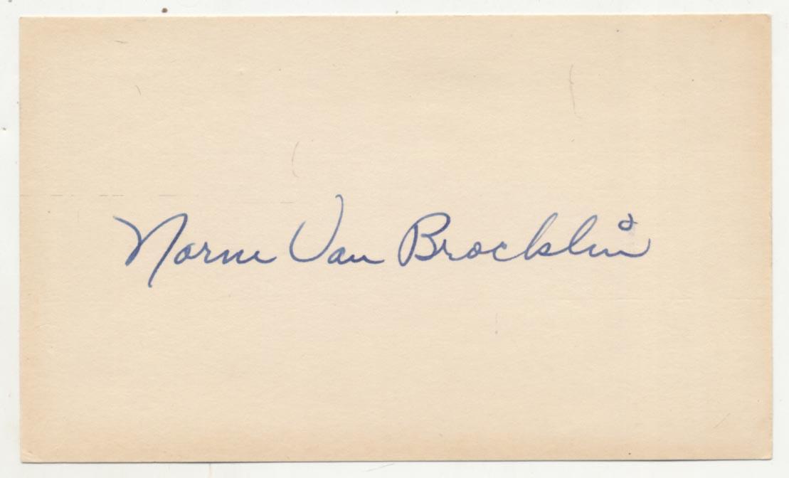 Lot #955  3 x 5  Van Brocklin, Norm (vintage) Cond: 9.5