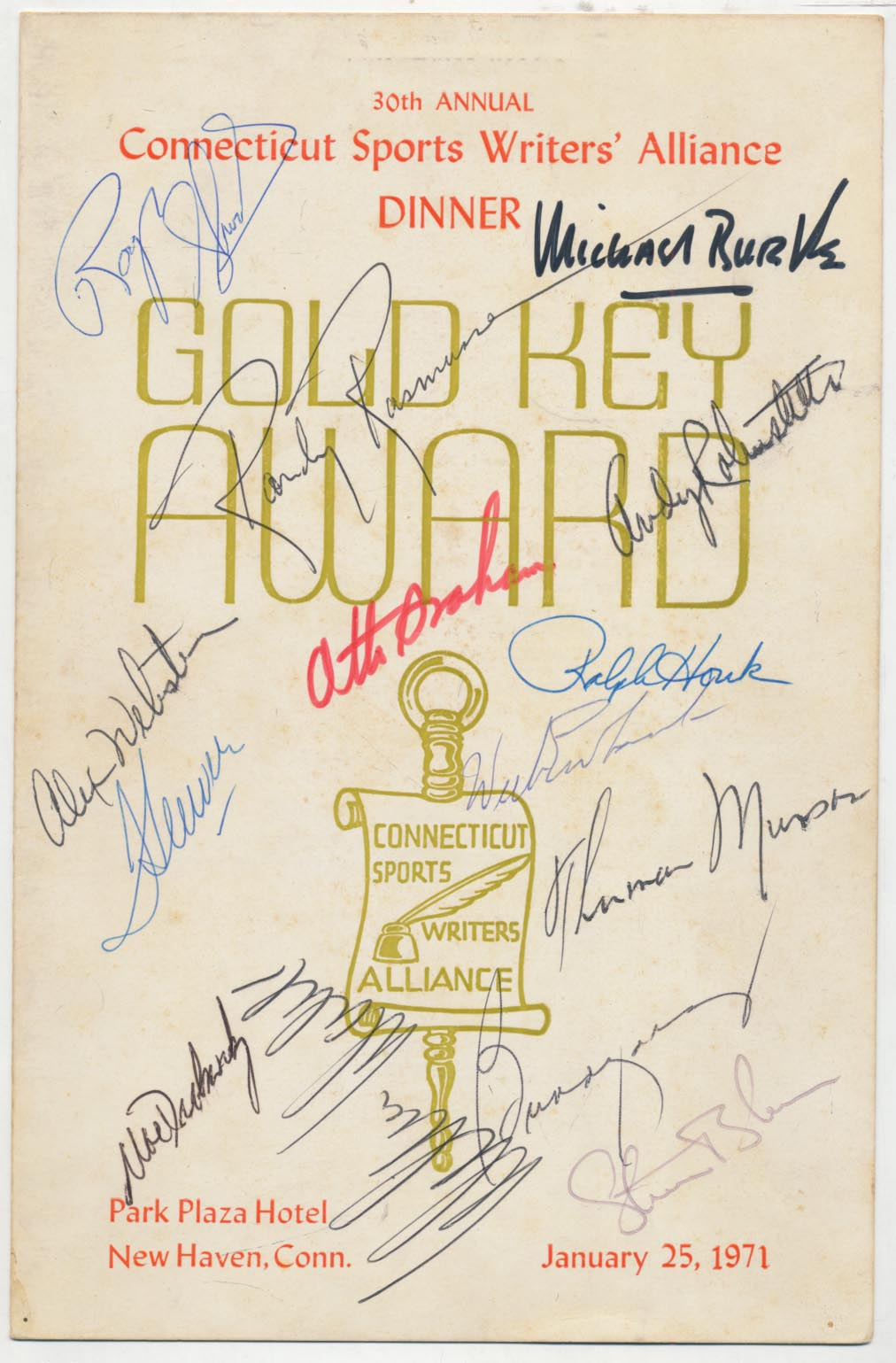 Lot #422  Program  Munson, Thurman Signed 1971 Program Cond: 9
