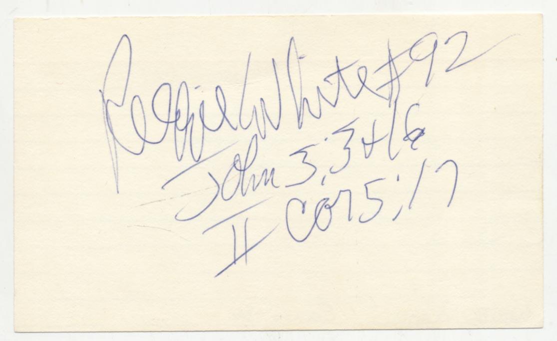 Lot #957  3 x 5  White, Reggie (Biblical inscriptions) Cond: 9.5