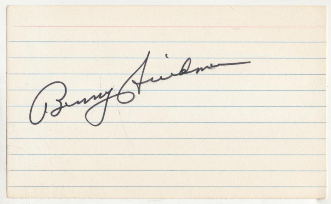 Lot #942  3 x 5  Friedman, Benny Cond: 9