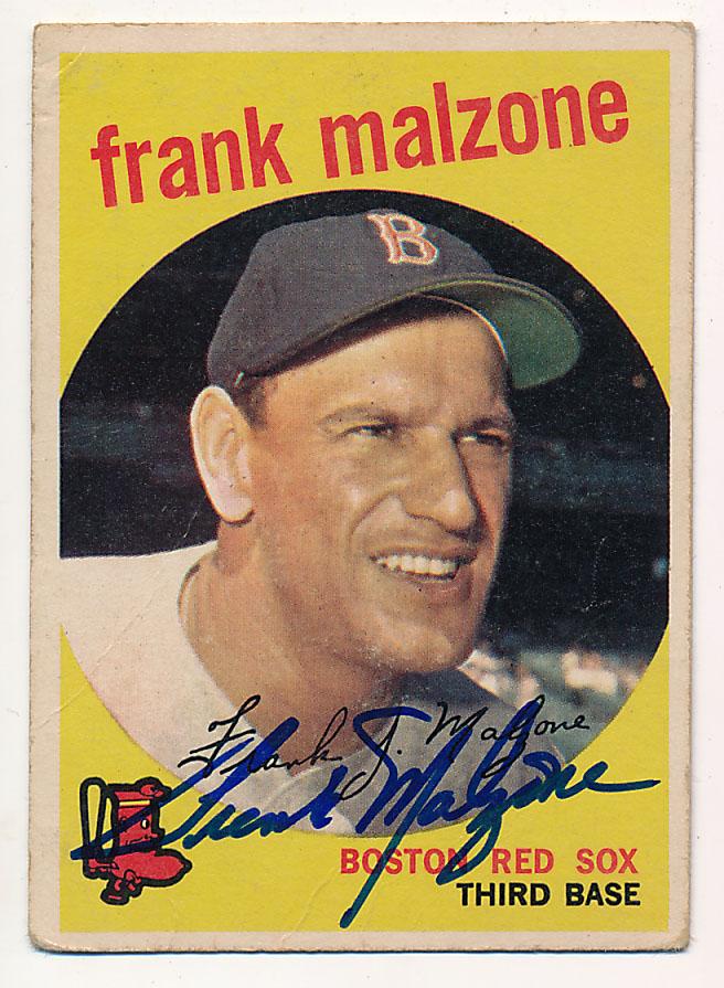 Lot #34 1959 Topps # 220 Frank Malzone Cond: 9.5
