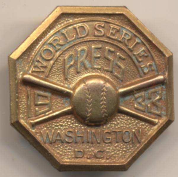 1933 Press Pin  Washington Senators NM