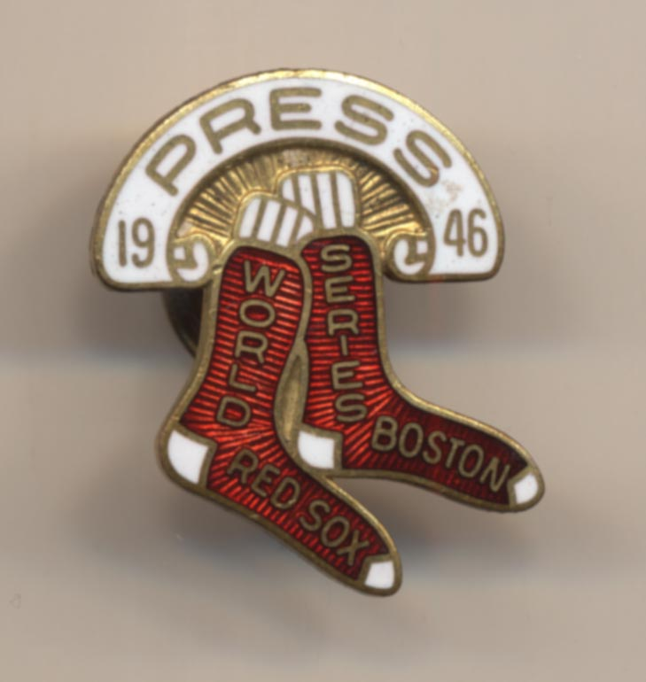 1946 Press Pin  Boston Red Sox NM