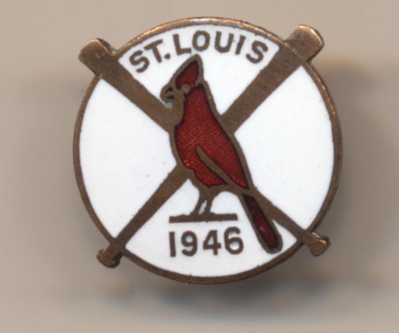 1946 Press Pin  St. Louis Cardinals NM