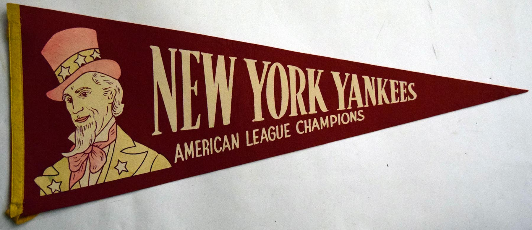 Lot #1289 1950 Pennant  1950s NY Yankee World Series Pennant Cond: Ex-Mt
