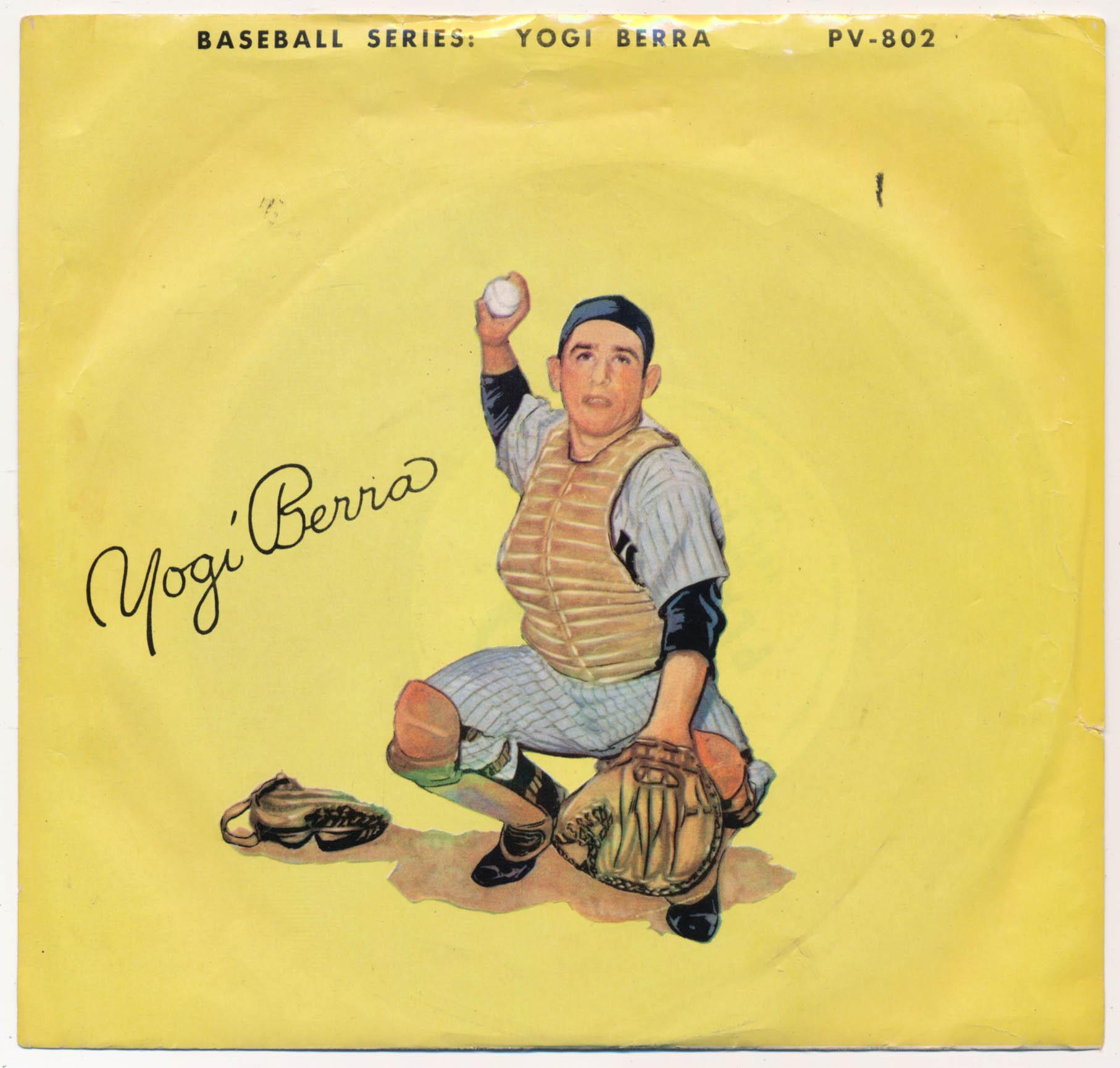 1955   Yogi Berra Record w/original sleeve Ex+