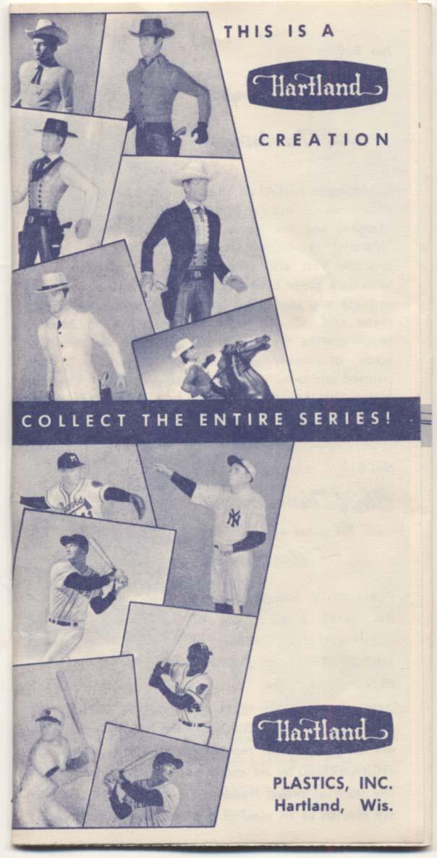 Lot #1323 1960 Hartland Statue  Original Sale Booklet Cond: Ex-Mt