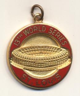 1982 Press Pin  Cardinals NM