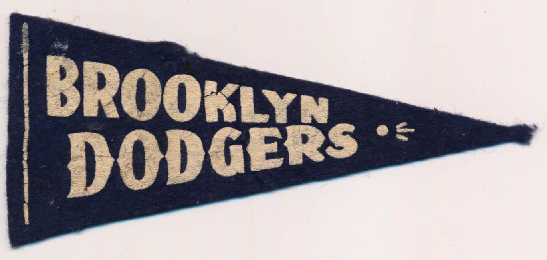 1950 Mini Pennant  Brooklyn Dodgers VG
