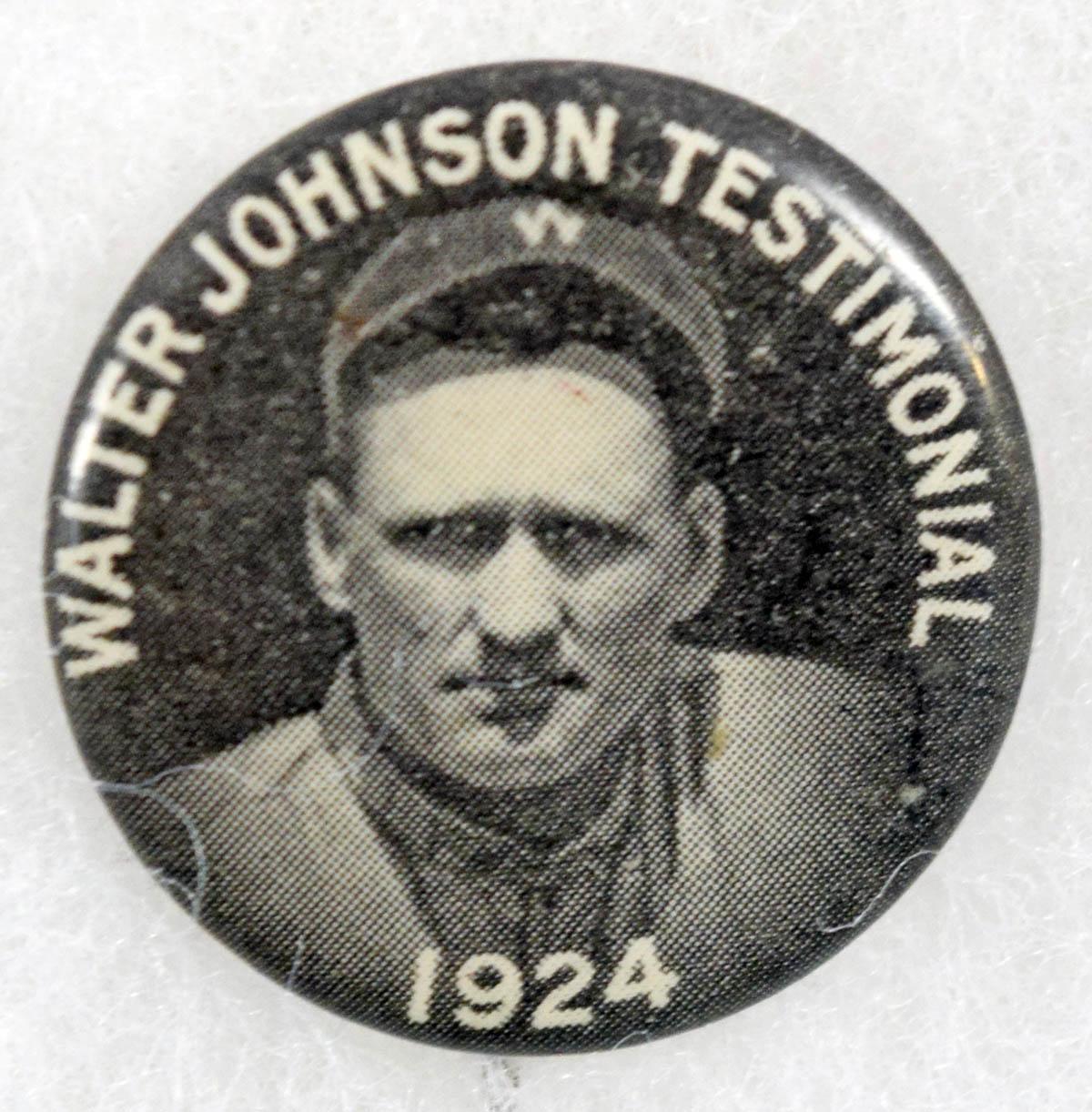 1924   Walter Johnson Day Pin