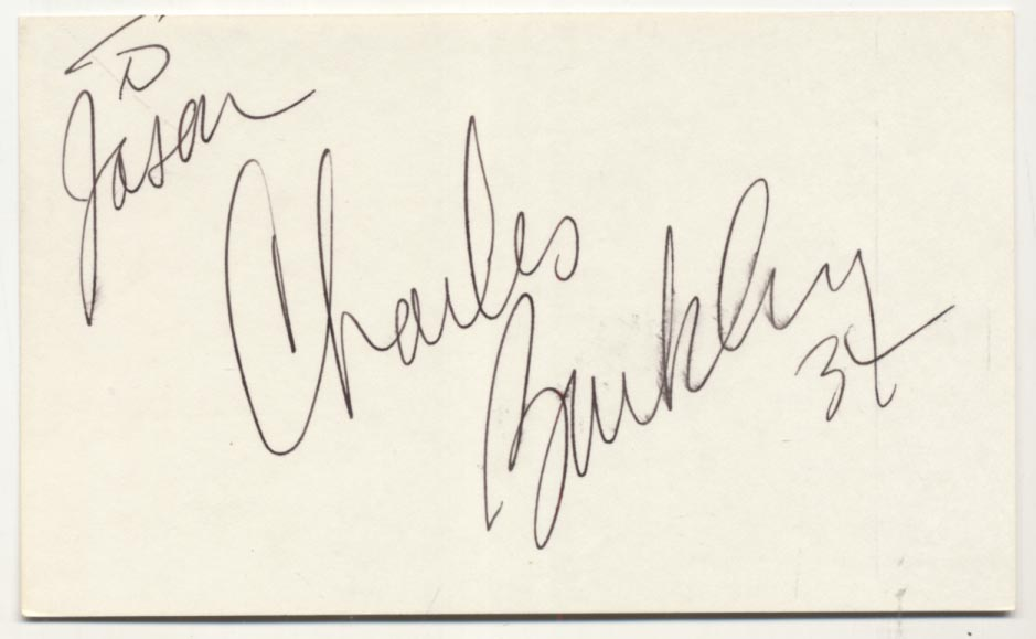 Lot #788  3 x 5  Barkley, Charles Cond: 9.5 pers
