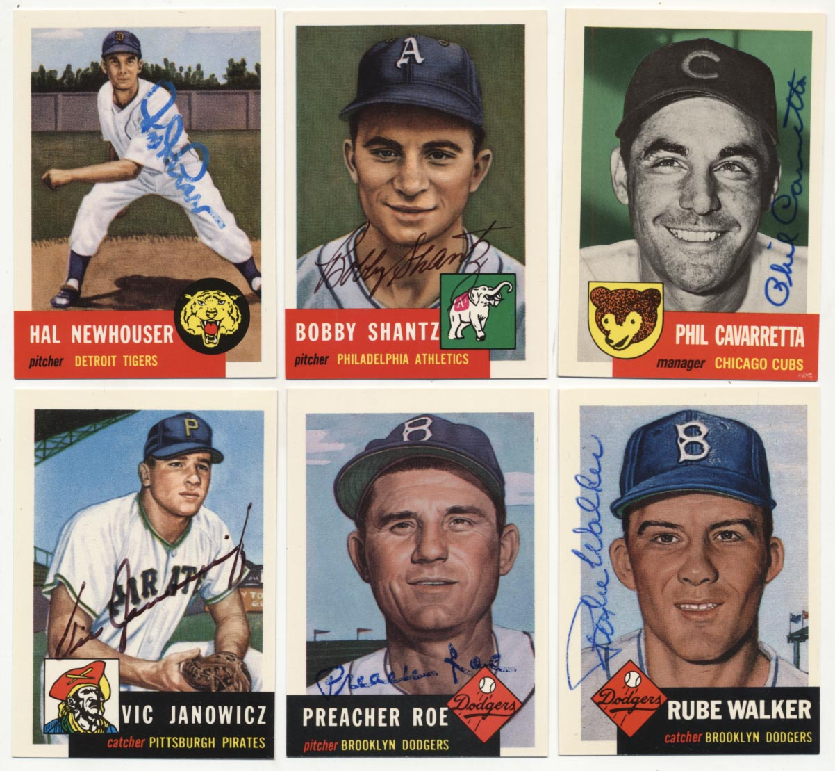 Lot #7 1953 Topps Reprints  Collection of 32 different Cond: 9.5