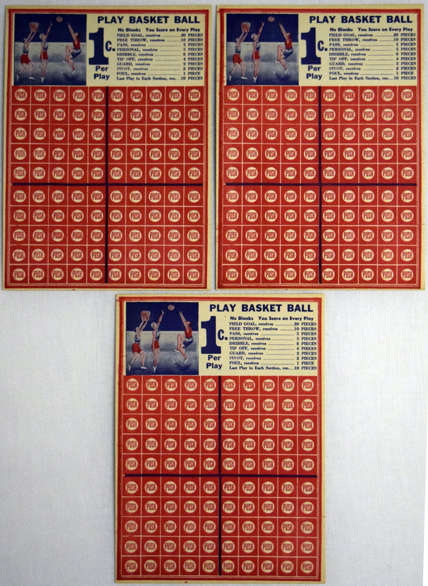 Lot #818 1955   Collection of 9 Punchout Boards Cond: Ex+