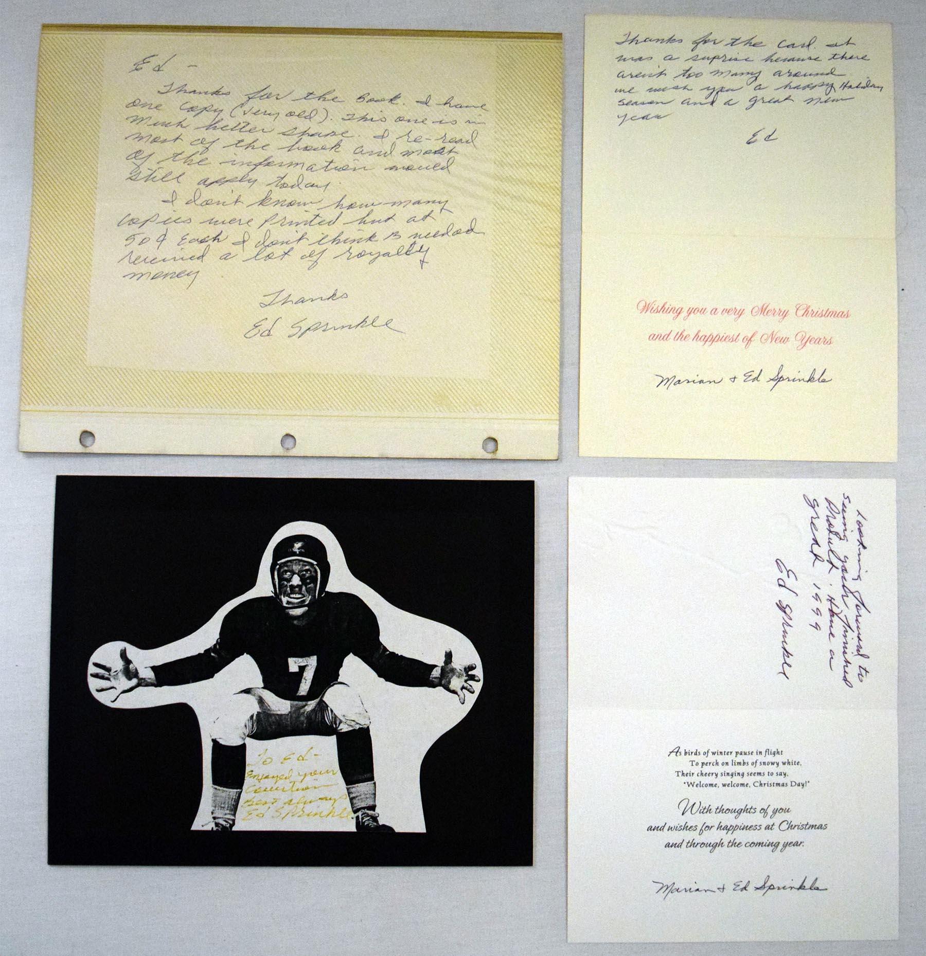 Lot #1066  Letter  Sprinkle, Ed Autograph Lot (6 pcs) Cond: 9.5
