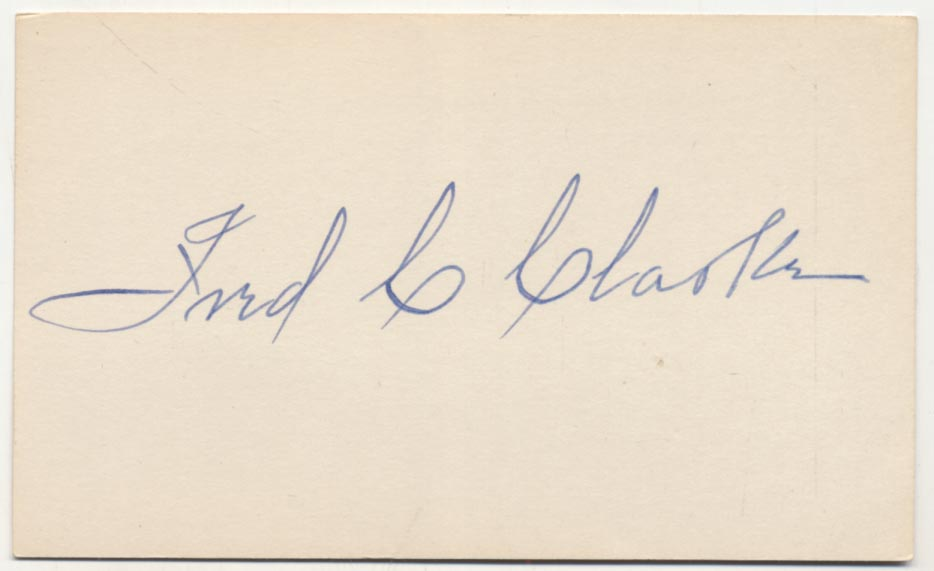 Lot #5  3 x 5  Clarke, Fred Cond: 9.5