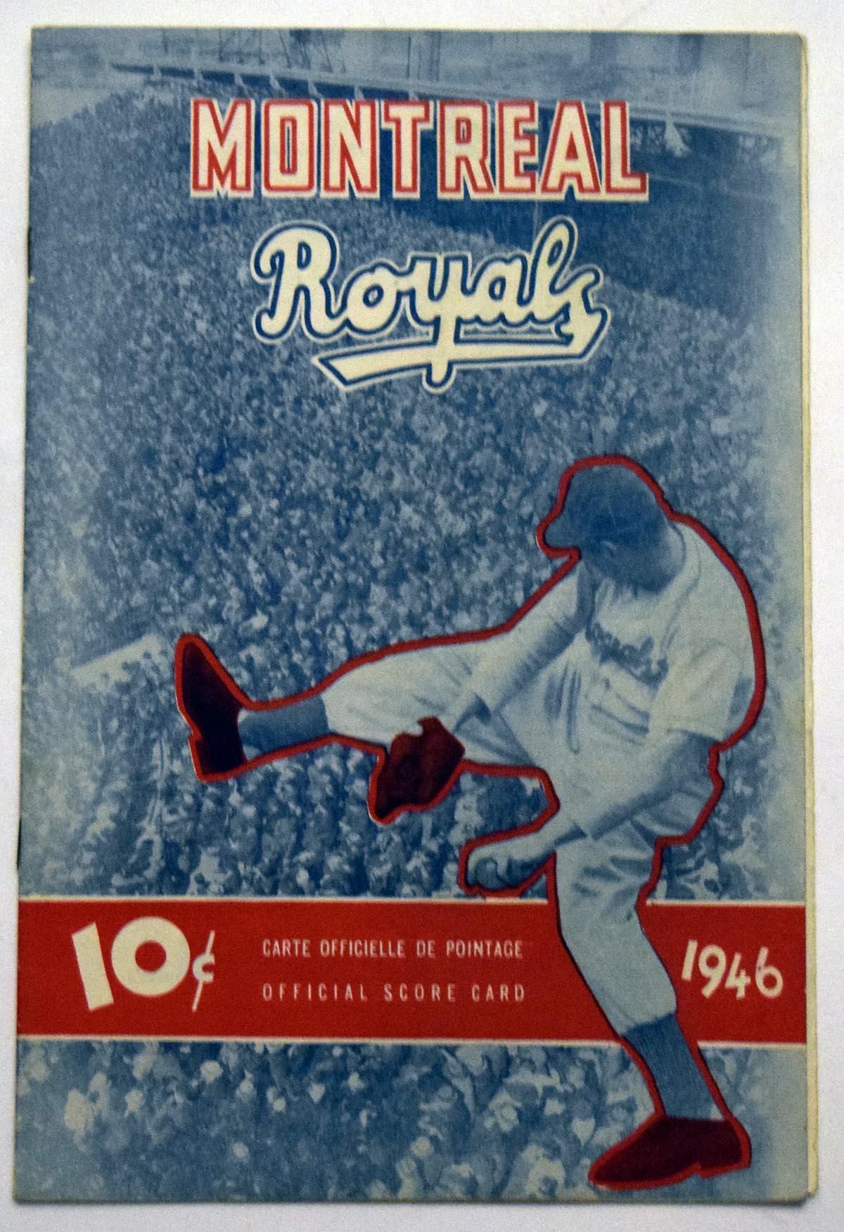 Lot #1466 1946 Program  Montreal Royals w/Jackie Robinson Cond: VG-Ex/Ex
