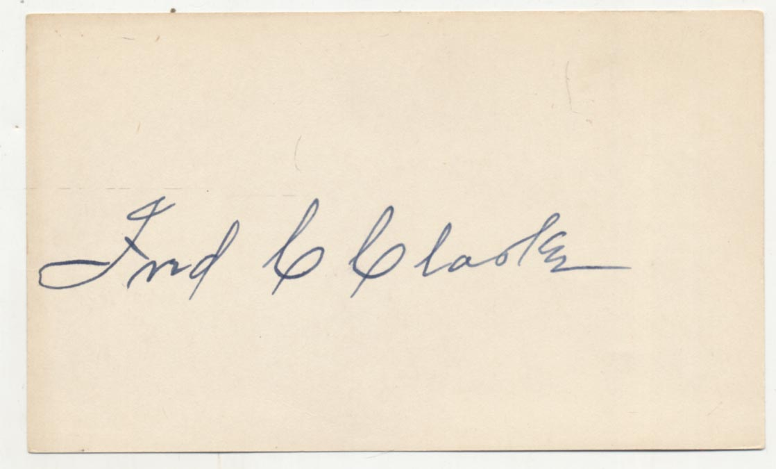 Lot #6  3 x 5  Clarke, Fred Cond: 9.5