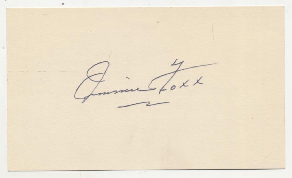 Lot #17  3 x 5  Foxx, Jimmie Cond: 9.5