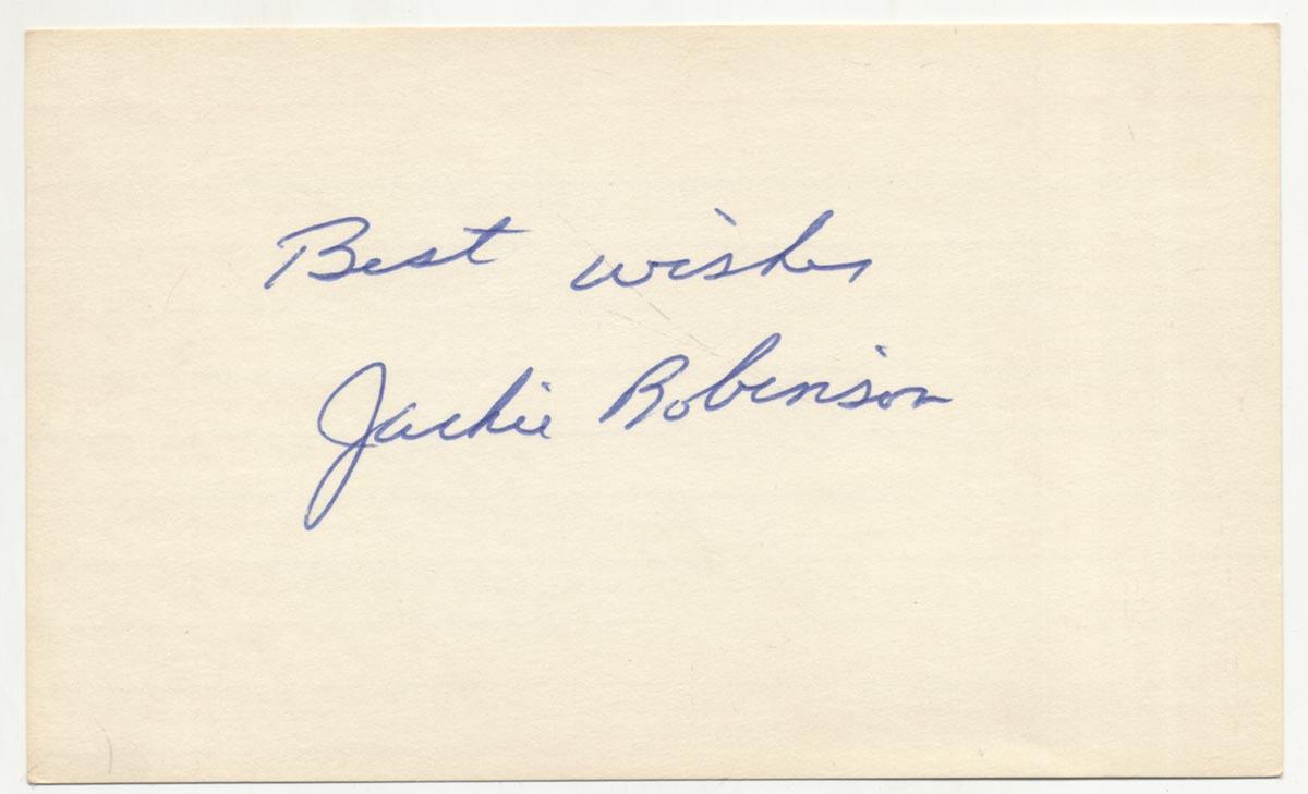 Lot #328  3 x 5  Robinson, Jackie (superb) Cond: 9.5