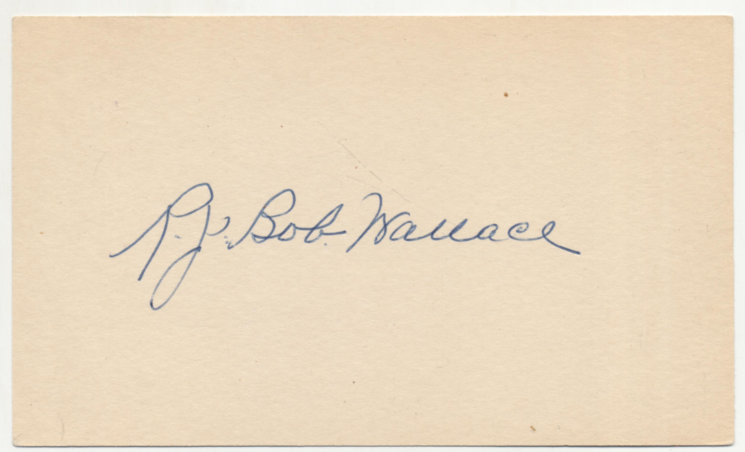 Lot #45  3 x 5  Wallace, Bobby Cond: 9.5