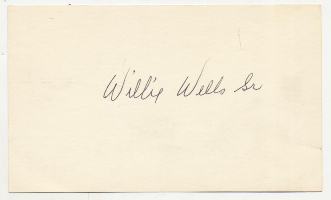 Lot #47  3 x 5  Wells, Willie Cond: 9.5