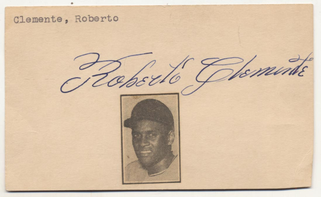 Lot #318  3 x 5  Clemente, Roberto (world class) Cond: 9.5