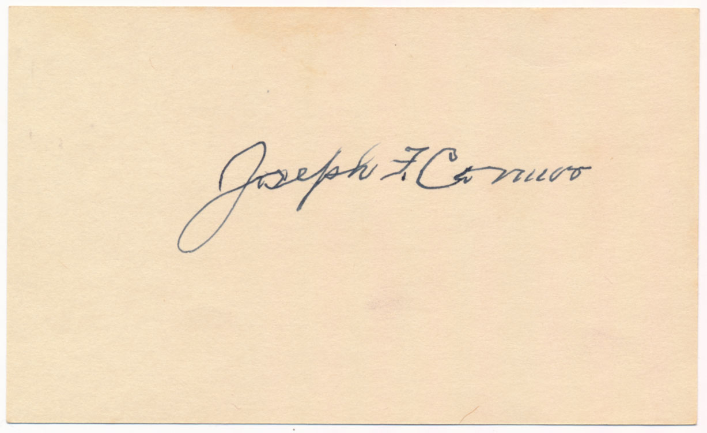 Lot #301  3 x 5  Connor, Joe (1905 Yankee, D'57) Cond: 9.5