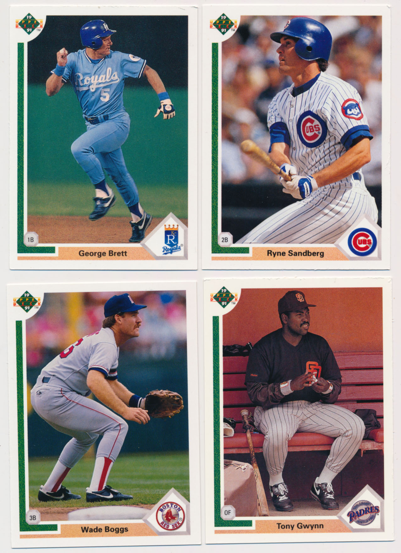 Lot #1128 1991 Upper Deck  250 Superstar Cards (5 players) Cond: NM