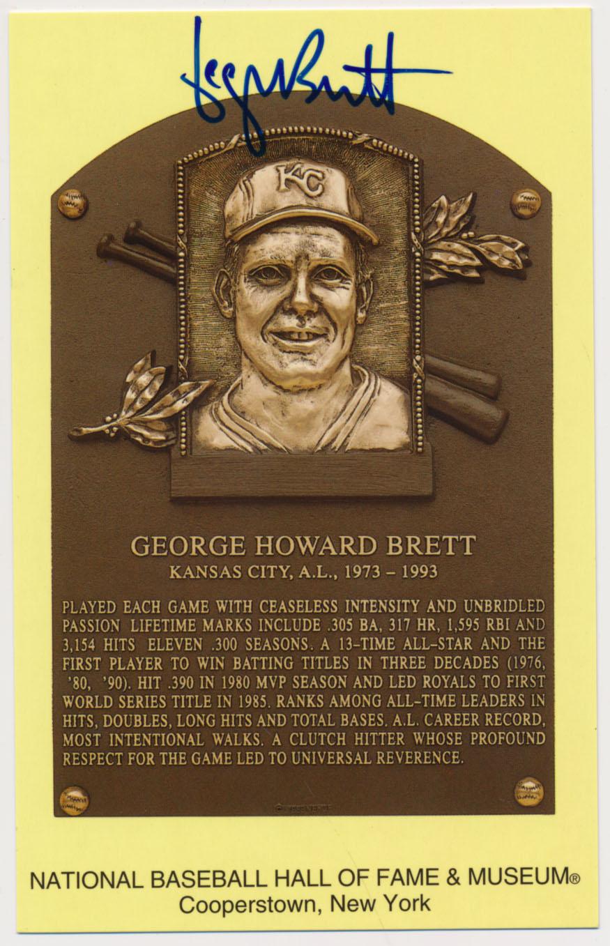 Lot #101  Yellow HOF Plaque  George Brett Cond: 9.5