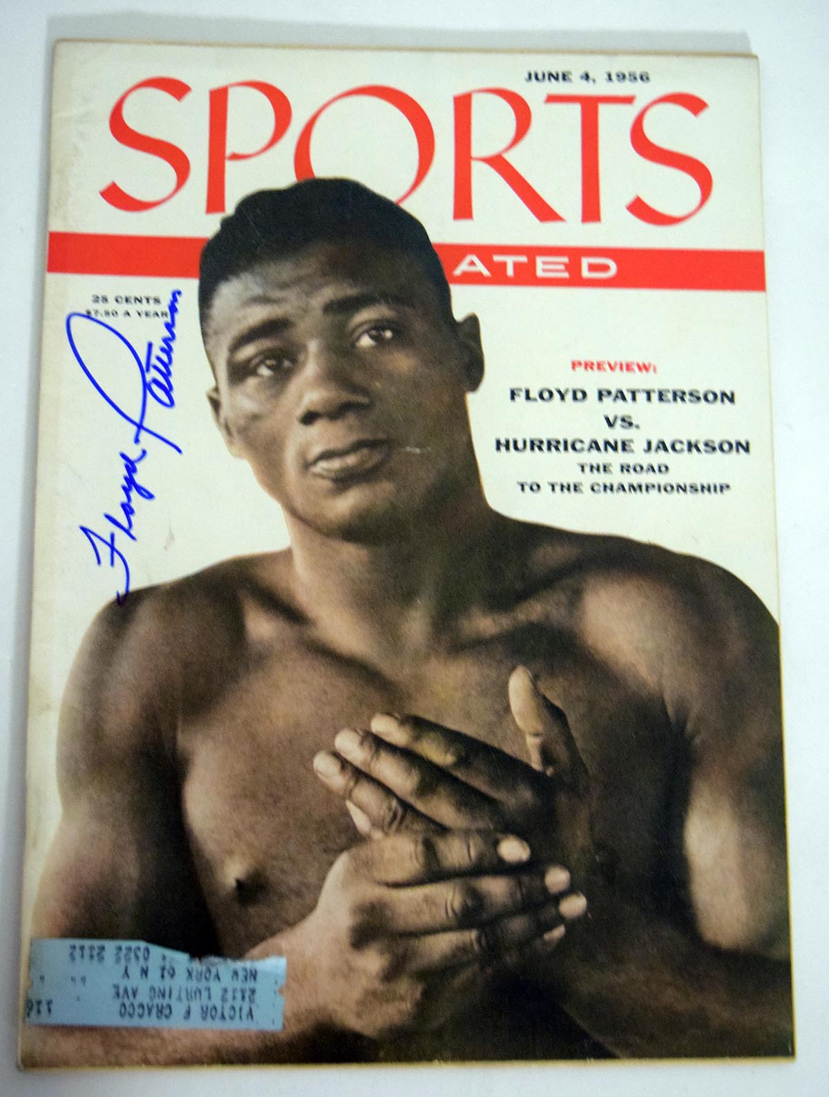 Lot #1041  Program  Patterson, Floyd Signed 1956 S.I. Cond: 9.5