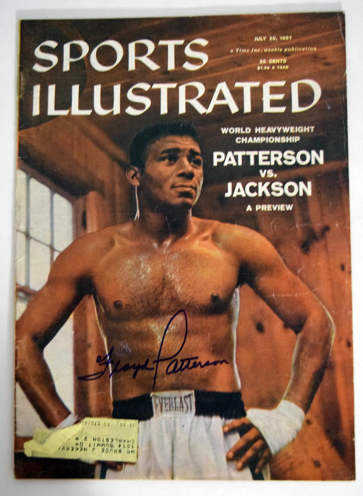 Lot #1001  Program  Patterson, Floyd Signed 1967 S.I. Cond: 9.5
