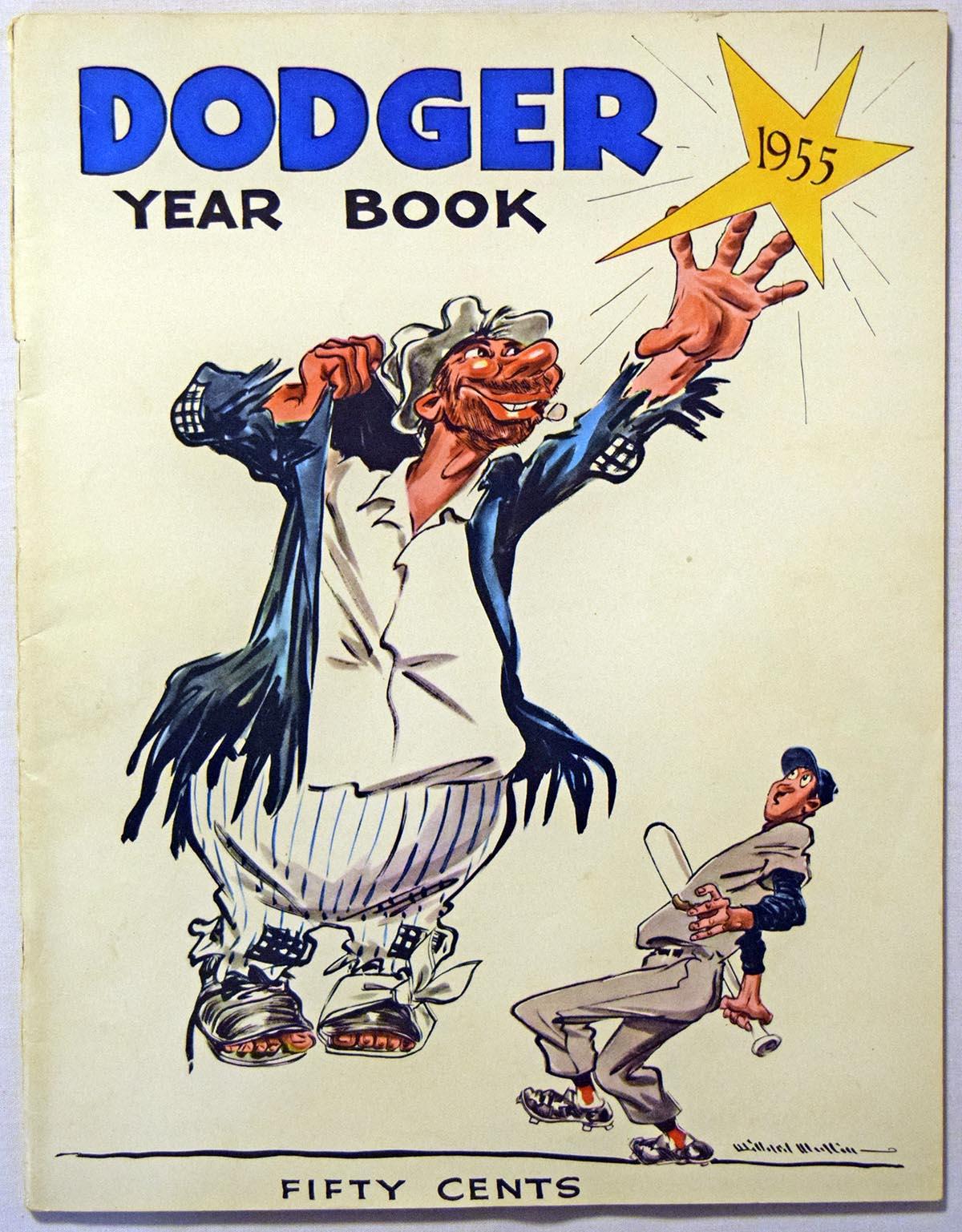 1955 Yearbook  Brooklyn Dodgers Ex-Mt