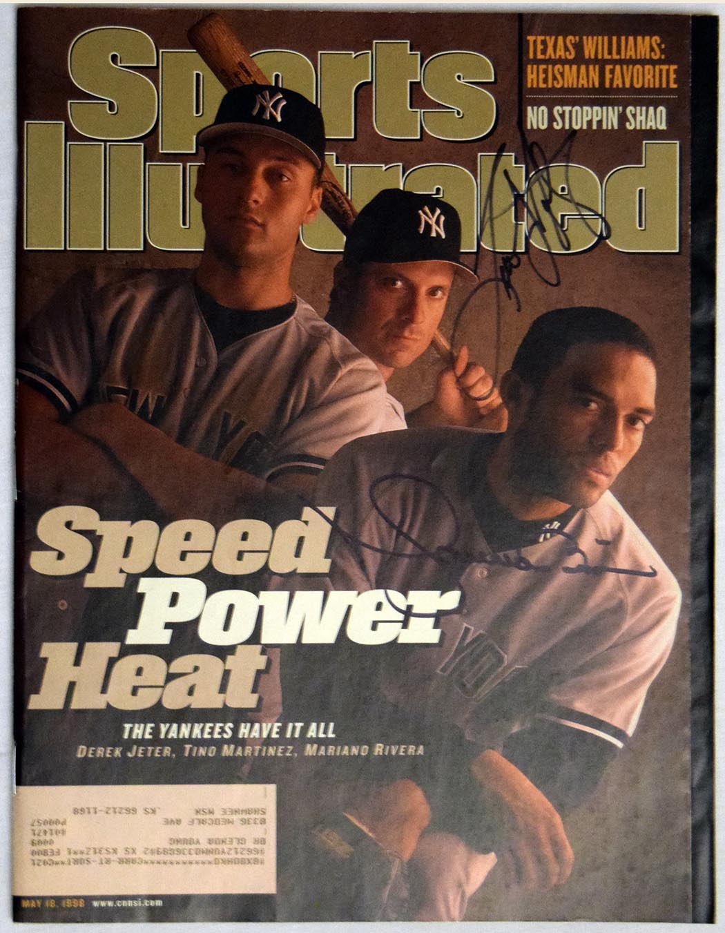 Lot #765  Program  Rivera/Tino Martinez Signed 1998 S.I. Cond: 9.5