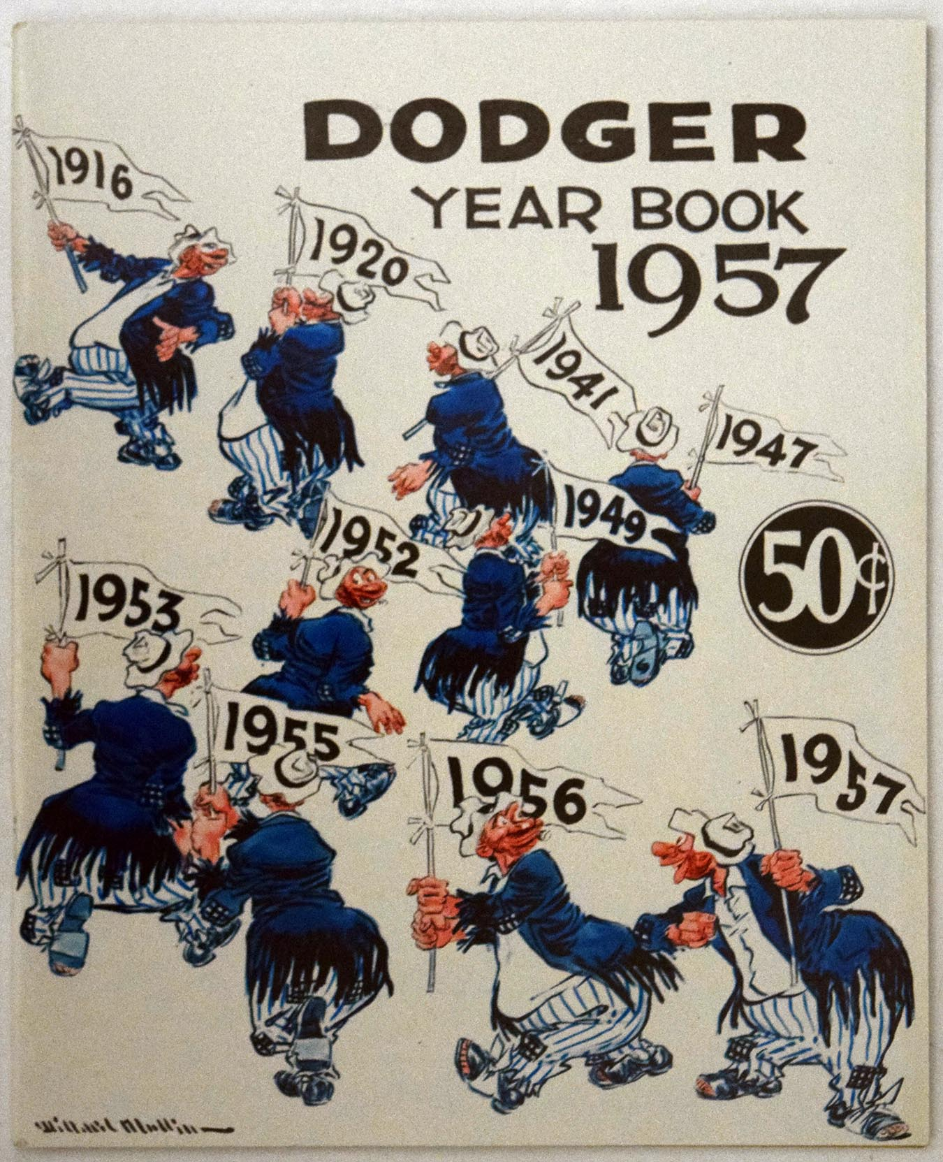 Lot #1426 1957 Yearbook  Brooklyn Dodgers Cond: NM