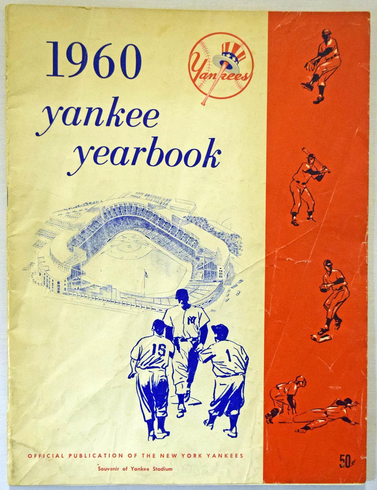 1960 Yearbook  New York Yankees   Good