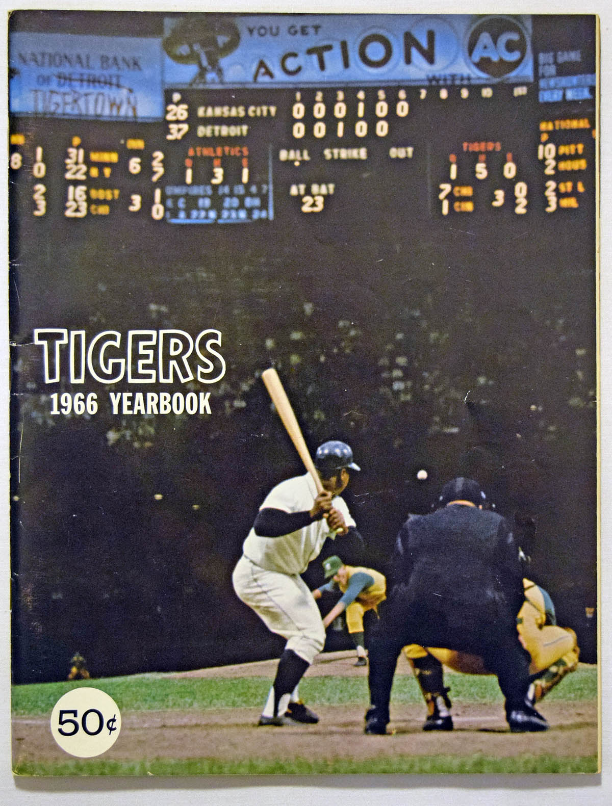 Lot #1755 1966 Yearbook  Detroit Tigers Cond: Ex-Mt+