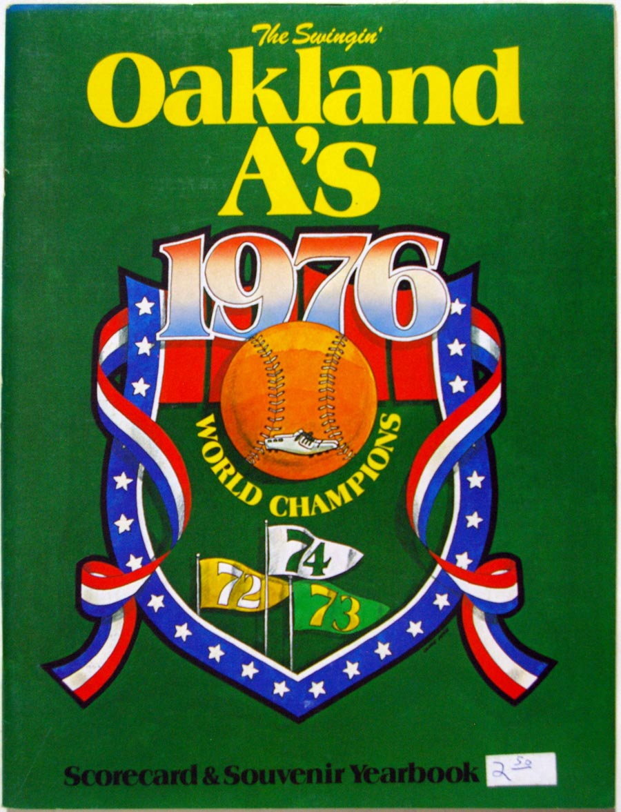 1976 Yearbook  Oakland As VG-Ex
