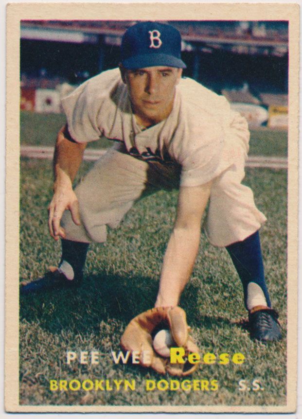 Lot #862 1957 Topps # 30 Reese Cond: Ex