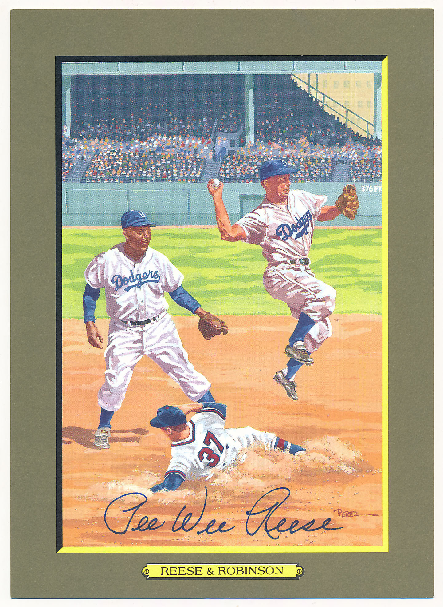 1985 Perez Steele Greatest Moments 91 Pee Wee Reese 9.5