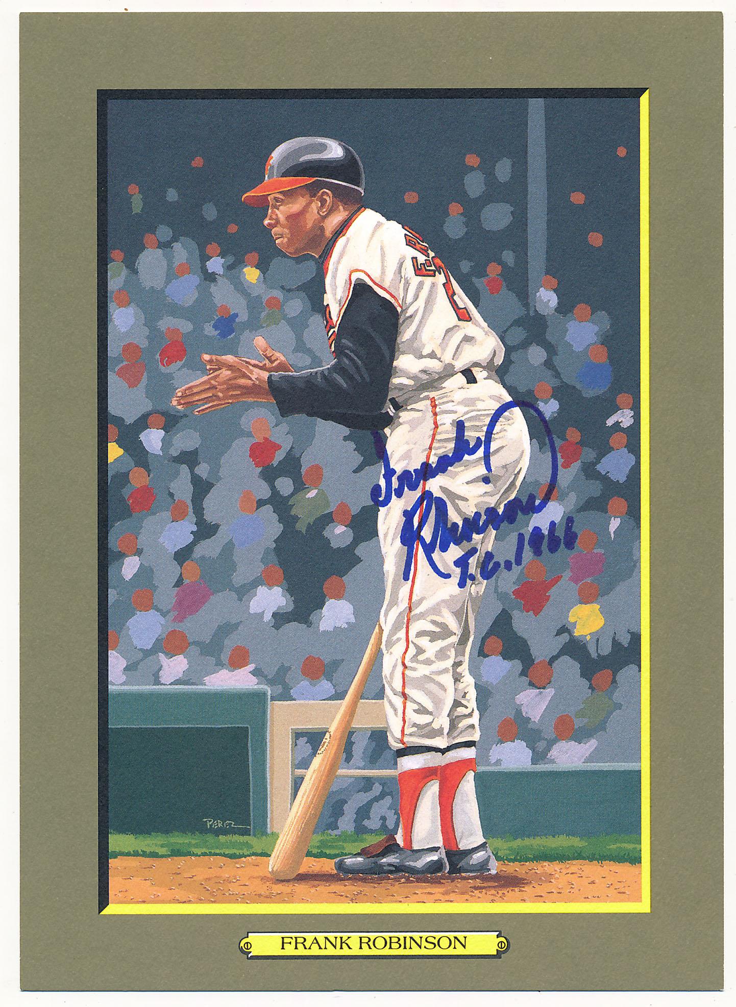 Lot #150 1985 Perez Steele Greatest Moments # 94 Frank Robinson (JSA LOAA) Cond: 9.5 (TC 1966)